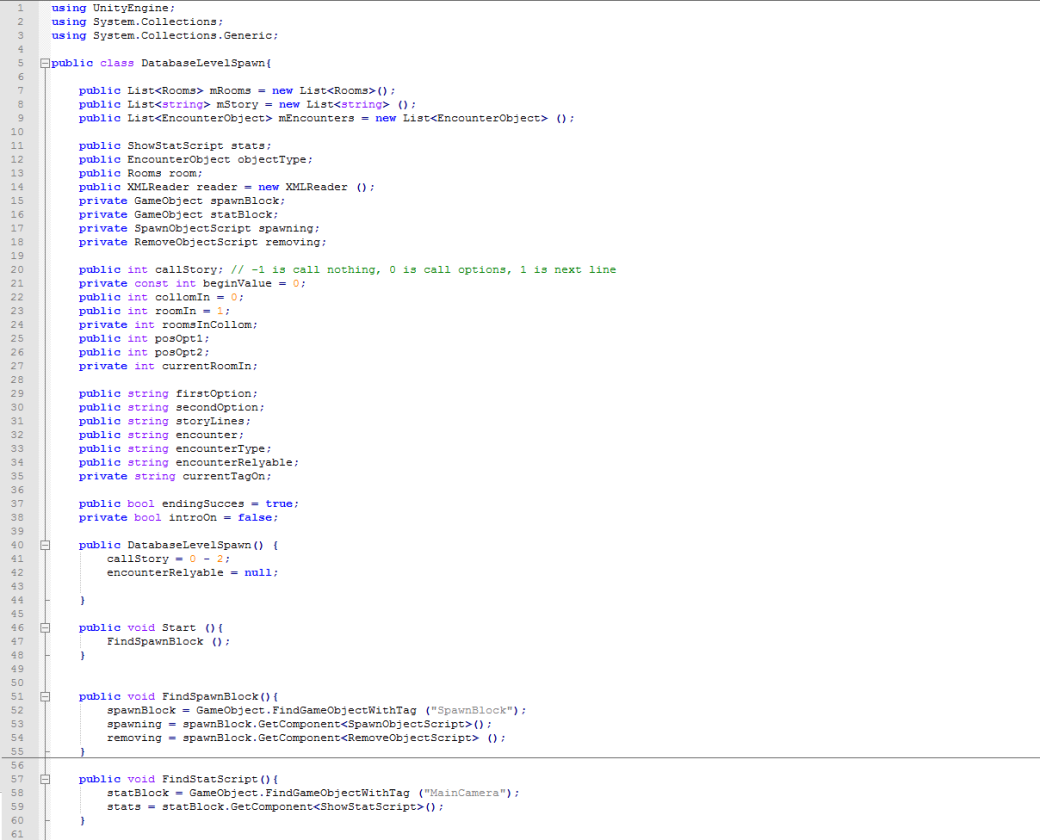 Database code 1